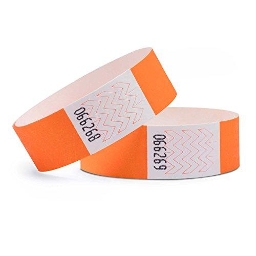 linie zwo®, 100er Pack Securebänder Tyvek® 19 mm, Neonorange - Konferenz Linie