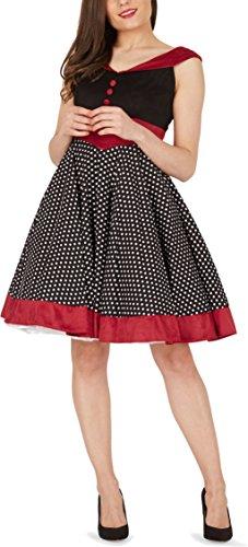 'Sylvia' Vintage Polka-Dots Pin-up-Kleid - 5