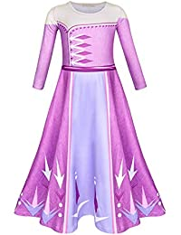 AmzBarley Disfraz Coronacion Princesa Niña,Vestido Niña Boda Fiesta Manga Larga,Traje Infantil Disfraz con Capa Princess Dress Girl Costume Kids Halloween Cosplay Navidad Carnaval Ceremonia 2-10 Años