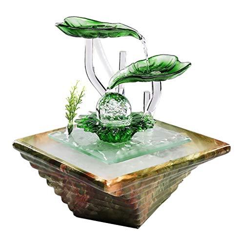 Keramik Modernen Minimalistischen Brunnen Desktop Desktop Befeuchtung Büro Wohnzimmer Feng Shui Ball Geschenk Ritual (Color : B)