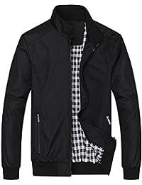Nantersan Mens Casual Jackets Lightweight Slim Fit Bomber Jackets Coats  Classic Outerwear Windbreaker e1ede34fa