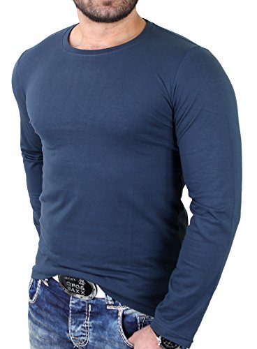 Reslad Langarmshirt Herren Streetwear Casual Longsleeve RS-5964 Anthrazit
