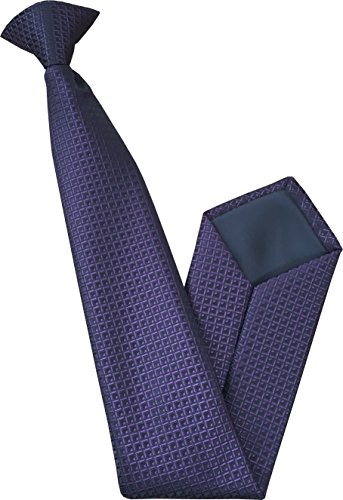 Great British Tie Club Cravate à Clipser - Violet et Noir Motif à Carreaux