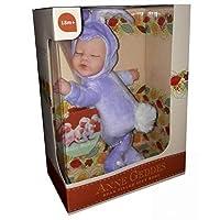 Anne Geddes dolls 9 Inch Baby Bunny Purple