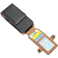 Hengying PU cuoio del telefono fondina cintura del telefono cellulare della clip di trasporto della cassa del sacchetto con slot per schede di Samsung Galaxy S7, S6 Edge, S6, S5, C5, iPhone 6, 6S, SE