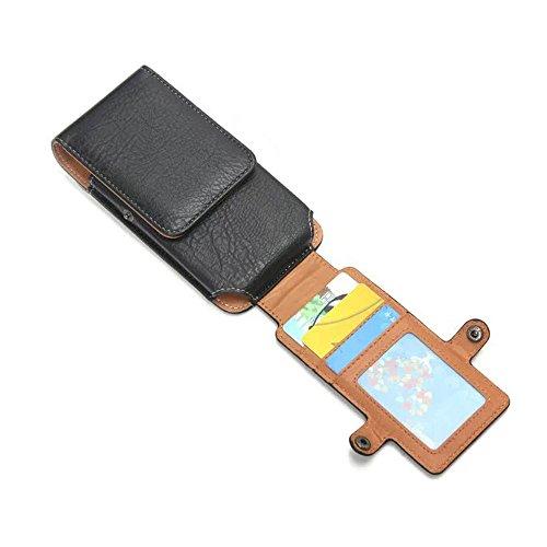iPhone 6s 7 Guerteltasche mit Clip aus Leder, 5 Zoll, Gürtel Handytasche, Vertikal Leder Hülle Tasche für iPhone 6S, Samsung Galaxy S7, S6 Edge in Hengying-Schwarz