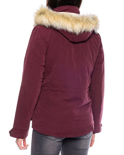 Only Onlstarlight Aw Fur Cc Otw, Parka Donna Rosso