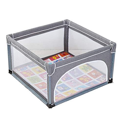 Baby Laufgitter mit Krabbeldecke, Anti-Roll-Spielplatz für Kleinkinder, Kinder Indoor/Outdoor-Aktivitätszentrum - 70cm groß (Farbe : Gray, größe : 120 × 120 × 70cm) ()