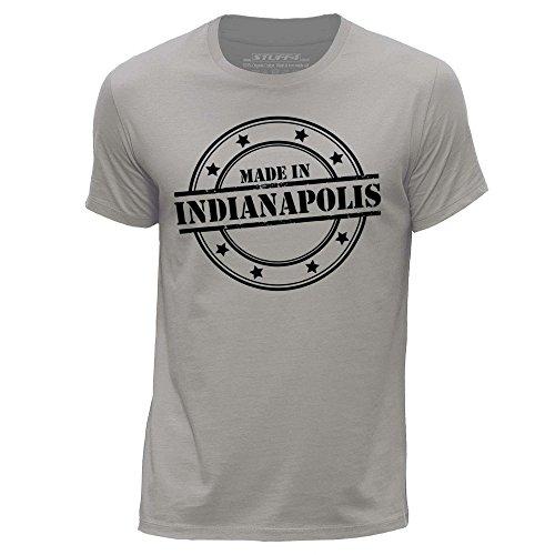 STUFF4 Uomo Girocollo T-Shirt/Made In Indianapolis Grigio chiaro