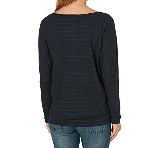 O'Neill Lw Jack's Base Striped Top T-Shirt Femme Bleu