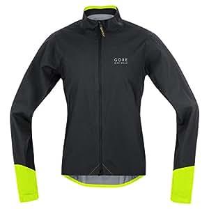 GORE BIKE WEAR, Giacca Uomo Ciclismo su strada, Impermeabile, GORE-TEX Active, POWER GT AS, Taglia M, Nero/Giallo, JGPOWR990804