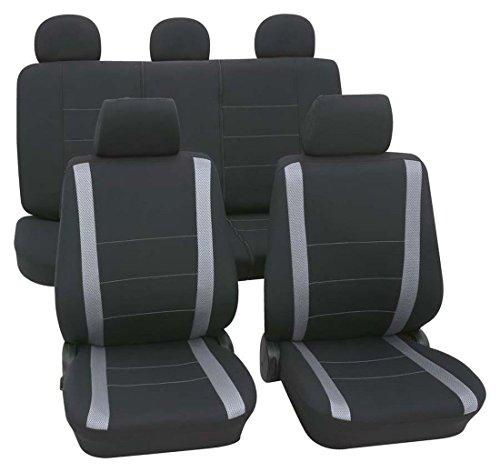 Preisvergleich Produktbild Faszination 83869, Autositzbezug Schonbezug, Komplett Set, Schwarz, Grau