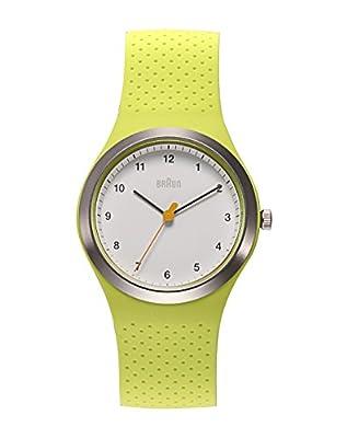 Marrón para mujer-reloj deportivo de silicona analógico de cuarzo silicona BN0111WHGRL de Braun