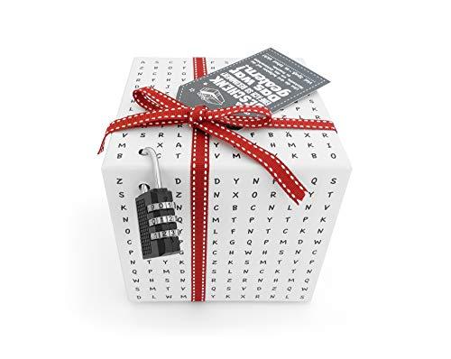 SURPRISA Worträtselbox - die kreative Geschenk-Verpackung für alle Knobelfreunde - perfekt für Gutscheine oder Geldgeschenke - für die Freundin, zur Hochzeit oder zum Geburtstag