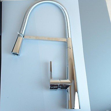 SHUYOU® Contemporary Solid Brass Chrome Finish Single Handle Kitchen Faucet