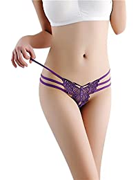 Demarkt Femmes Sexy Dentelle Culottes Thongs G-string Lingerie Sous-vêtements Taille Libre