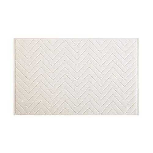 JYJY Antideslizante baño Felpudo Mat Microfibra Suave Absorbente Alfombra for el Dormitorio de la Sala (Color : White)