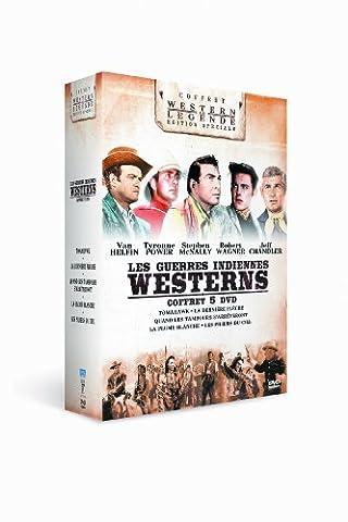 Westerns - Les guerres indiennes : Tomahawk + La dernière flèche + Quand les tambours s'arrêteront + La plume blanche + Les piliers du ciel - Coffret 5 films