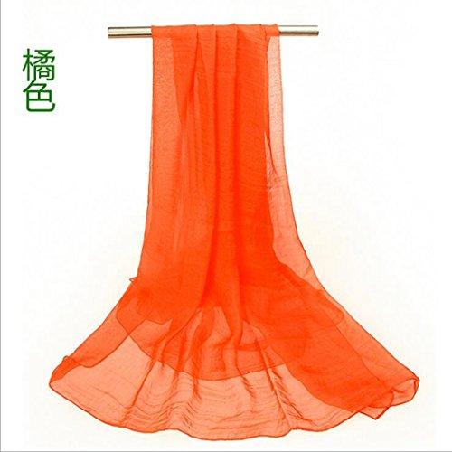 GTD Schal, weiblich, Frühling und Sommer, langer Abschnitt, Schals, Sonnenschutz, Schals, Strandtücher, groß, Schals, 150 * 80 (Anzug Männchen Orange)