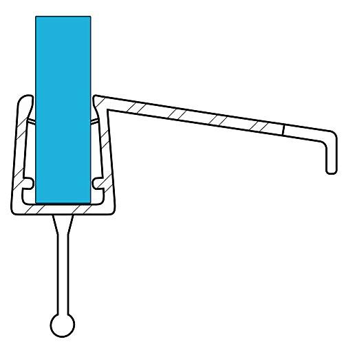 VARIOSAN Duschdichtung 10858, 100cm, für 6-8mm Glasstärke, S3, transparent Test