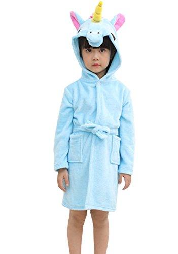 orn mit Kapuze Nachthemd, Kind Unisex Flanell Regenbogen Star Nachtwäsche Tier Cosplay Cartoon Kostüm Homewear Pyjamas für junge Mädchen (Hochwertige Kostüme Uk)