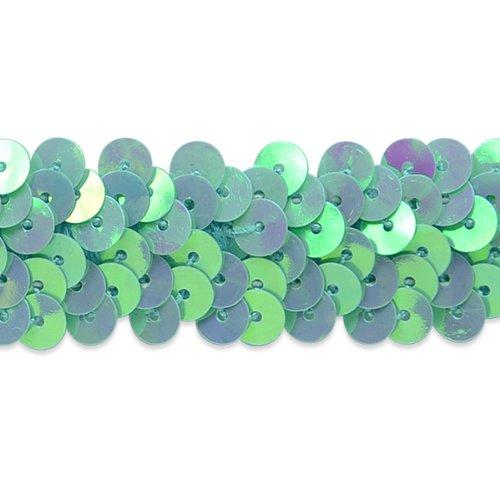 Expo International-reihig 7/8Zoll metallic Stretch Pailletten Trim, 20-yard, blau (Stretch-metallic-pailletten-trim)