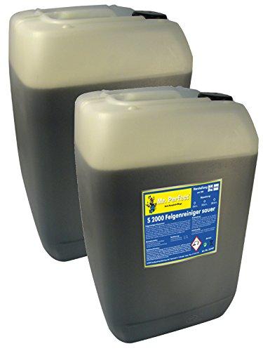Mr. Perfect® S 2000 Felgenreiniger, 2 x 25 Liter - säurehaltiges Konzentrat mit hoher Schmutzlösekraft entfernt Flugrost und hartnäckigsten Bremsstaub