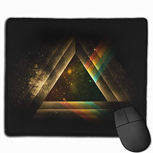 Mouse Pad Artistic Geometry Triangle Background Rectangle Rubber Mousepad 11.81 X 9.84 Inch Gaming Mouse Pad with Black Lock Edge