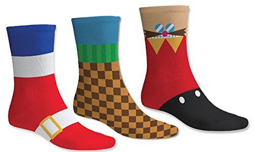 numskull Sonic the Hedgehog Socken - 3 einzigartige Paare - OneSize (UK 6 -11 / EU 39 - 46) Baumwolle (Sonic The Hedgehog 2 Xbox)