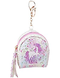 VWH Women PU Unicorn Mini Wallet Card Key Holder Zip Coin Purse Clutch Bags