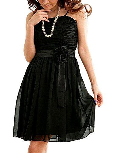 VIP Dress Grazioso Abito da sera con dettagli floreali in nero Nero