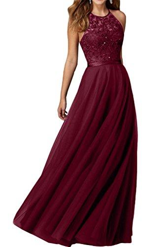 Promgirl House Robe du soir Robe de cocktail Robe de bal séduisante Noir Broderie Bretelles en A Noir - Rouge bordeaux