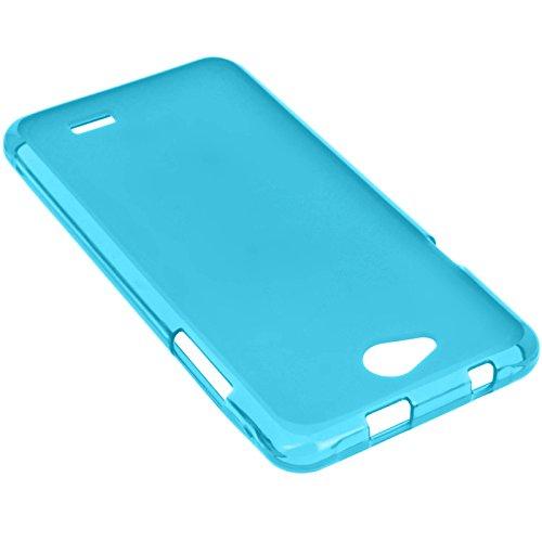 Coque Silicone Gel Incassable pour Logicom L-ement 551 - Bleu