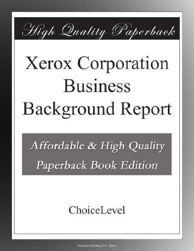 xerox-corporation-business-background-report