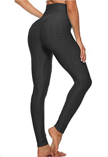 FITTOO Mallas Leggings Mujer Pantalones Deportivos Yoga Alta Cintura Elásticos y Transpirables Negro S