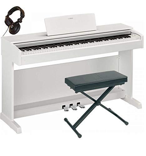 Pack Yamaha ydp-143WH Bianco-Pianoforte digitale + sedile + Cuffia