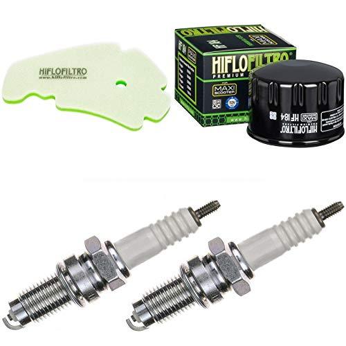 Luftfilter Ölfilter Zündkerzen für MP3 500 LT i.e. Business Baujahr 2011-2014 Doppelzündung -