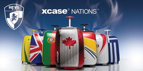 ... 50% SALE ... PREMIUM DESIGNER Hartschalen Koffer - Heys Core XCase Nations Griechenland - Handgepäck Brasilien