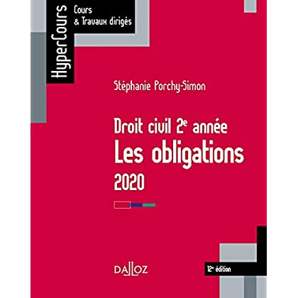 Droit civil 2e année, les obligations 2020 - 12e éd.