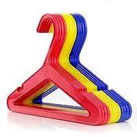 HANGERWORLD Yellow 26cm Plastic Childrens Coat Baby Toddler Clothes Trouser Bar Garment Hangers.
