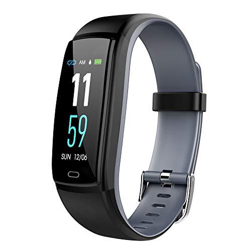 gaddrt Schrittzähler Smarte Uhren, Wasserdichtes OTA Smart Watch Armband Fitness Tracker für iPhone für Android/iOS w (Grau)