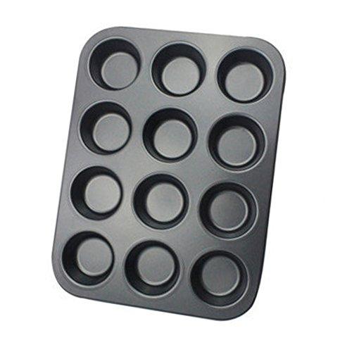 JUNGEN Backform Antihaftbeschichtetes Muffinblech Kuchenform für 12 Muffins Backblech