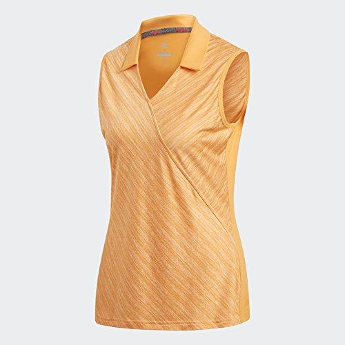 Adidas Wrap Sleeveless Polo, Golf, Damen S gold (Golf Adidas Wrap)