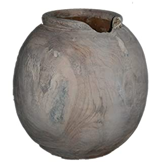 Exclusive Teak Vase White Wash Wood