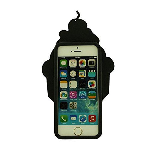 Apple Schutzhülle für iPhone SE Hülle, Süßigkeiten Eiscreme Gestalten Slikon Gel Weich Case Stoßfest für iPhone 5 5S 5C 5G mit 1 Stylus-Stift pink