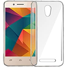 Anmol Soft Silicone TPU Jelly Crystal Clear Soft Back Case Cover for Micromax Bharat 2 -Transparent