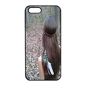 Iphone 5s Case,Hard PC Iphone 5s Protective Case for Ultimate Protect iphone 5s with Huntress, Feather Headband
