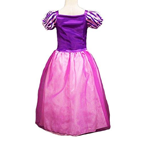 Imagen de disfraz de la princesa rapunzel para niñas, vestido de manga; cosplay, disfraz de halloween, vestido de fiesta de cumpleaños alternativa