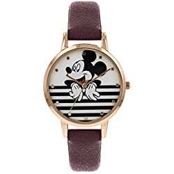 Disney Mickey Mouse MK5088 - Reloj de Pulsera para Mujer, Color Oro Rosa