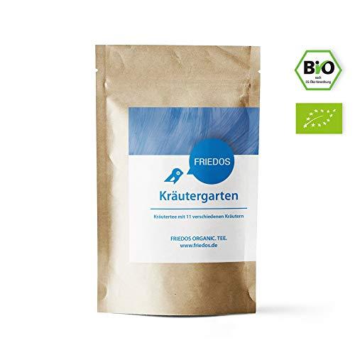 Friedos Tee organische Teemischung Kräutergarten - Bio Kräutertee lose mit 11 verschiedenen Kräutern 100g -